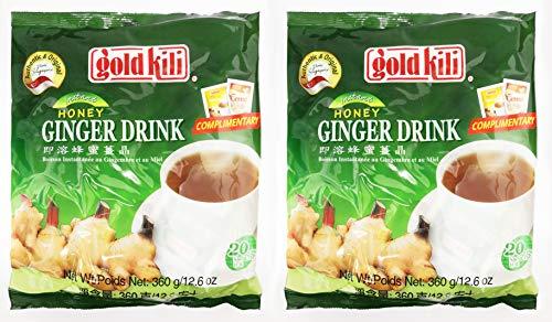 Ginger Drink by Gold Kili, 40 Sachet Total (2 Packs of 20 Sachets)