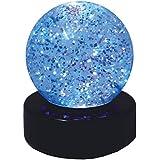 Pfiffikus von Kuenen Glitter-Ball LED-lamp 10490, transparant met zilveren glans.