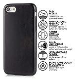 """Case für iPhone 7 (4,7″) Thin Fit Hülle """"PU Leather"""" – PU Leder Tasche für Apple iPhone 7, Schutzhülle mit Soft Feel Coating in schwarz von QUADOCTA® – Idealer Schutz für Diamantschwarz Jet Black iPhone7 - 2"""