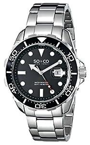 SO & CO New York 5042.1 - Reloj de pulsera Cuarzo Hombre correa deAcero inoxidable Plateado de Diamant Feuer