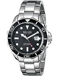 SO & CO New York 5042.1 - Reloj de cuarzo para hombres, plateado