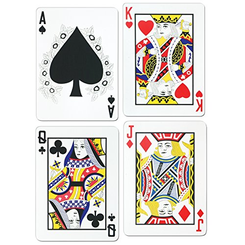 Large 1.5ft Playing Card Cutouts - Casino Party Decorations by Partyrama