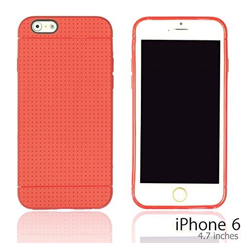 OnlineBestDigital - Colorful Hard Back Case / Housse pour Apple iPhone 6 (4.7 inch)Smartphone - Jaune avec 3 Film de Protection Rouge