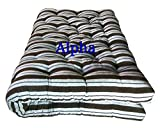 #3: Alpha Medium Soft Washable Cotton Filled Mattress - 4 x 6 Feet Or 48 x 72 inches
