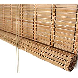 Estores de bambú Filtro de luz 60% Persianas enrollables de bambú - Puerta/Cenador/Balcón/Sombrilla Exterior, Película Ancha, 80-135cm de Ancho (Tamaño : 120×160cm)