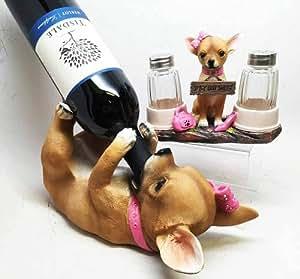 Chihuahua épicé, mais pour chien Vin & Sel et Poivre avec Support