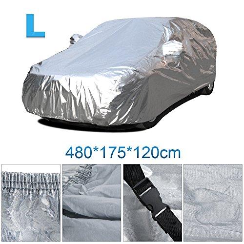 Vinteky®Cubierta del coche a prueba de agua a Prueba de Polvo Anti-UV Resistente lonas llenas de garaje cubierta exterior especial resistente al agua para espejo retrovisor (L)