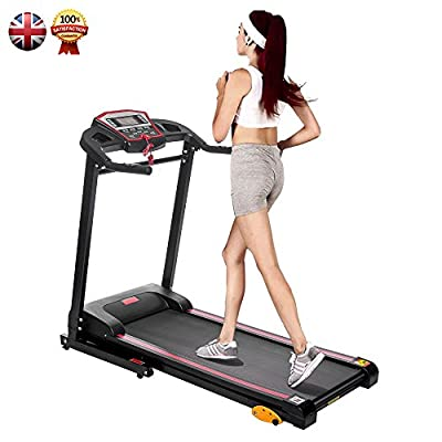 Rocket Bunny® Brand New Treadmill With Ipad Holder Motorised Electric Treadmill Running Machine Fitness Folding Exercise Machine by Rocket Bunny