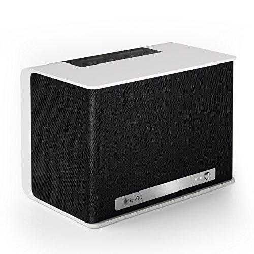 Raumfeld One S Mini-WLAN-Lautsprecher weiß (Streaming, WLAN, Spotify, kabellos, Multiroom, App, drahtlos) -