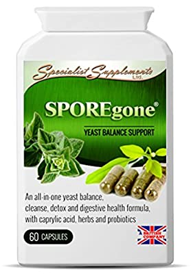 SPOREgone - Candida & Dysbiosis Combination - All-in-One Yeast, Digestion & Colon Health Support Supplement - Specialist Supplements
