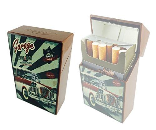 Offre Lagiwa - Etui à paquet de 20 cigarettes couleur au choix avec 1 cadeau bonus (Car Marron)