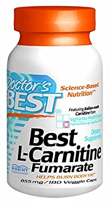 L-Carnitine Fumarate Featuring Sigma Tau Carnitine (855 Mg) Vegetable Capsules, 180-Count