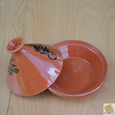 Traditional Terracotta Tagine, 23 cm Diameter by YODECO