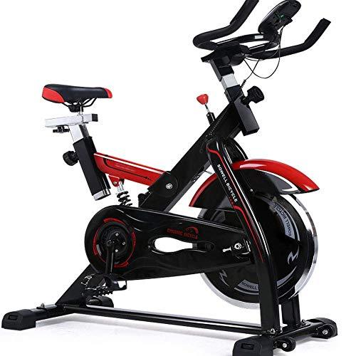 WJSWYD Bicicleta estática Life, Bicicleta de Ciclismo Cubierta, Bicicleta estacionaria Lisa y silenciosa, Totalmente Ajustable con Sensor de Ritmo cardíaco y Monitor LCD Multifuncional