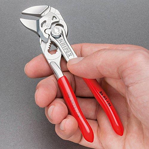 KNIPEX-86-03-125-Mini-pince-cl-KNIPEX-pince-et-cl–la-fois-chrome-gaines-en-plastique-125-mm