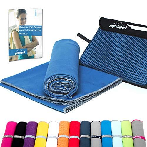 Mikrofaser Handtuch Set - Microfaser Handtücher für Sauna, Fitness, Sport I Strandtuch, Sporthandtuch I 1x M(110x50cm) I Blau