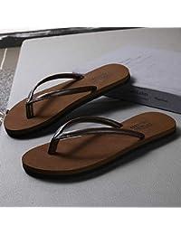 aef974208 Shukun Chanclas de los hombres Flip-Flop Male Summer Fashion Simple  Slippers Male Non-