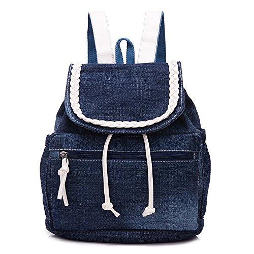 Haga Doble Bolsas de Hombro alumnas' Mochilas Escolares Paquete Elegante y a la Moda, Mochilas de Lona Cowboy Mochila B
