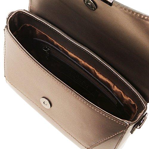 Metallic Leather Ruga TL Tuscany TL141649 aus Bag Bronze Leder Bordeaux Clutch wBYRxdXaq