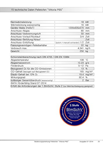 Pelletofen wasserführend Vittoria PBS 7-18 kW , Kessel , Bafa Förderung 2000 EUR , Farbe: champagner -