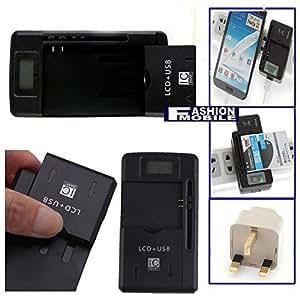 Chargeur de batterie universel LCD pour Lenovo A880 A889 Akku Ladegerät 1300mAh USB