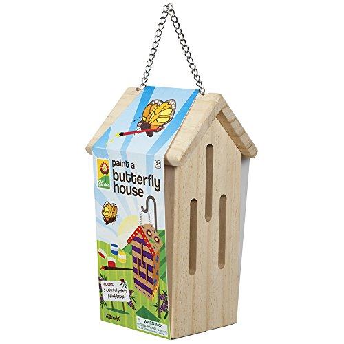 Malen Sie ein Schmetterlingshaus