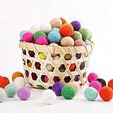 Mamimami Home 100pc DIY Fertigkeit-Korn-Wolle 100% Wolle Mix Farbe Babyzubehör Filzkugel 2cm Sensory Geschenk Nursing Beads
