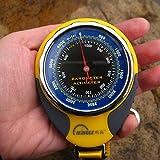 firstwish 4Funktionen in 1Mini Digital Höhenmesser Kompass Thermometer Barometer Ausrüstung mit Karabiner -