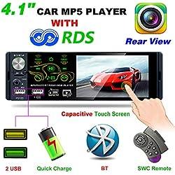 Honboom 2019 Nouveau autoradio Bluetooth de 4,1 Pouces avec écran Tactile 1080P, FM/AM/RDS Radio de Voiture MP5/MP3 Lecteur de Voiture prenant en Charge Les entrées USB/TF/AUX et télécommande