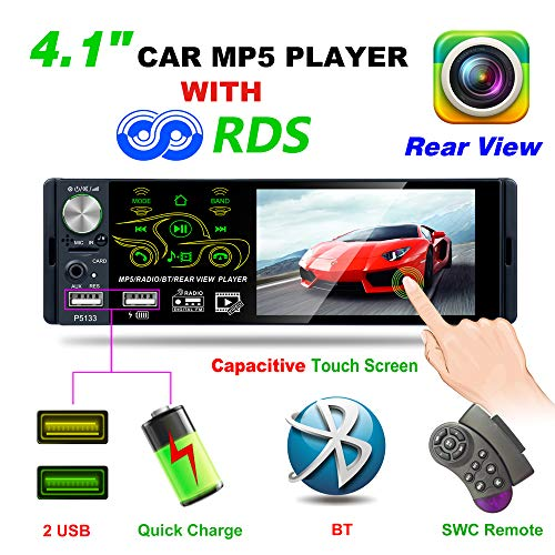 Honboom 2019 Nuovo progettato Autoradio Bluetooth Car Stereo Receiver con 4,1 pollici 1080P Touch...