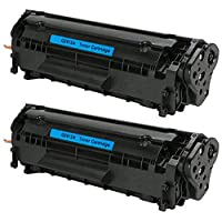 TiAN Q2612A cartucho de tóner negro Compatible para HP LaserJet 1010101210151018102010221022N 1022NW 301530203030305030523055M1005MFP Premium calidad tóner negro 2000páginas, color negro