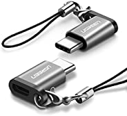 UGREEN USB C to Micro USB Adapter-2 Pack Type C Charger Converter with Keychain Connector Compatible for Samsu