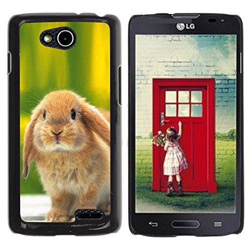 DREAMCASE Hart Handy SchutzHülle Hülle Schale Case Cover Etui für LG OPTIMUS L90 D415 - Cute Bunny Rabbit