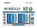 #9: Panasonic Battery Eneloop Ocean BK-3MCCE/8SN Rechargable Battery - Pack of 8 (Multicolor)