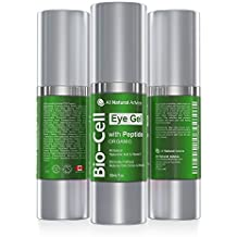 Gel Bio Cell Eye da 30 ml – Prodotto in Canada- Certificazione biologica + Peptidi + Acido ialuronico + Cellule staminali vegetali che eliminano occhiaie e gonfiore, aumentando la produzione di collagene, formula antinvecchiamento – di All Natural Advice