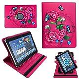 Pinke Blumen Rosen Tablet Tasche Schutz Hülle für 10 Zoll DENVER TAQ-10153