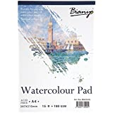 Bianyo Watercolor Paper Pad, 180 GSM, A4 Size, 15 Sheets