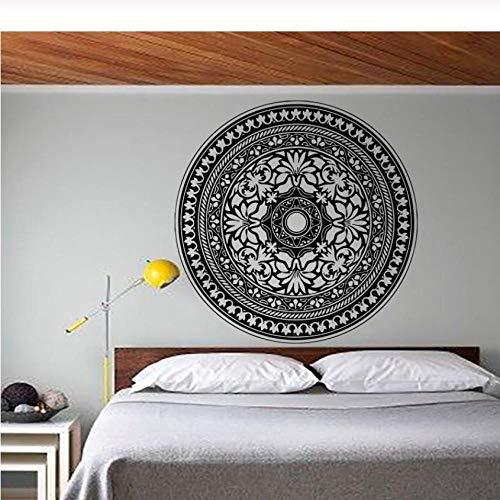 Fobostory Moderne Schlafzimmer Kopfteil Wandaufkleber Mandala Muster Yoga Decals Vinyl Kunst Wohnkultur 59X59 Cm - Schlafzimmer Moderne Kopfteil