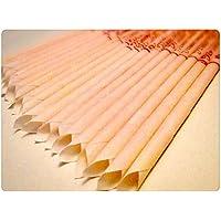 Preisvergleich für 30 KÖRPERKERZEN ZweiohrkerZen® Bienenwachs Trägermaterial Baumwolle (15 Paar) mit Abbrennmarkierung und Filter...