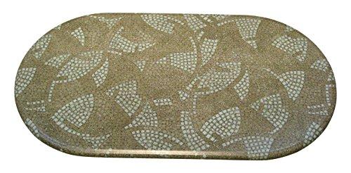 Werzalit Tischplatte, Oval Romano Caverna, mosaik grün, 120 x 65 x 2.2 cm, 51000020T (Tischplatte Ovale)