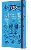 Moleskine - Agenda Semanal de 18 Meses Alicia en el País de las Maravillas, Color azul, Agenda Escolar 2019/2020 con Tapa Dura y Cierre Elástico, ... cm, 208 Páginas (AGENDA 18 MOIS EDT LIMITEE)