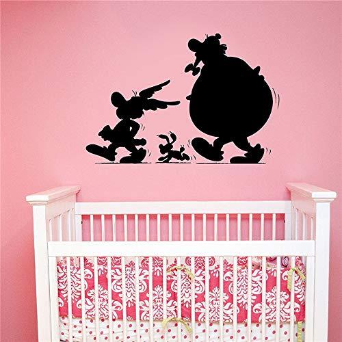 yaoxingfu Silhouettes Décalque de Vinyle Amovible Movie Art Décorations pour La Maison Ménagers Enfants Chambre Chambre Sticker Mural ww-1 83 x 58 cm