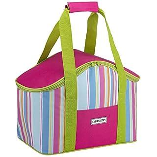 anndora Kühltasche 20 Liter Isoliertasche Einkaufstasche pink Limette