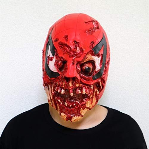 GXDHOME Latex Kopf Masken, Halloween Kostüm Resident Evil Horror Bloody Schädel Teufel Masquerade Zombie Ghost Creepy Kostüm