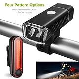 Wallfire Fahrrad-Fahrradlichter, USB-LED-wiederaufladbare Beleuchtungsset Mountain Cycle Front Back Scheinwerfer & Rücklicht