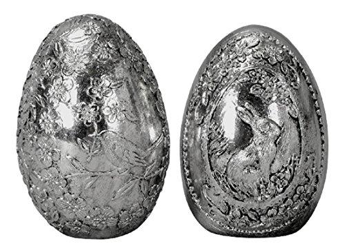 ngshafte Oster-Deko Ei stehend Deko-Ei antik-silber Preis für 2 Stück (Stehend Ei)