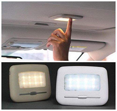 Zcar Coche SUV USB Cargando Luz Nocturna Tronco Techo Iluminación Inalámbrica, Vehículo Interior Lámpara Touch Control Fácil De Instalar, Beige