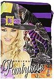 Collants rayés violets et noirs - Adulte (XL)