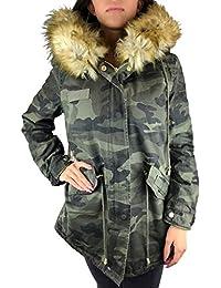 a03e66ad2e8c83 Worldclassca Parka Damen Winter Jacke mit Patches XXL Kunstfell Pink Rosa  Kapuze Mantel Fashion Jacket Blogger mit REIßVERSCHLUSS Neu…