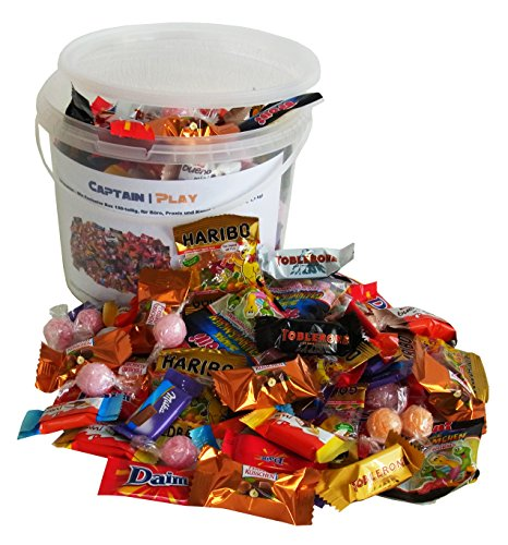 Süßigkeiten – Mix Exclusive Box 159-teilig, für Büro, Praxis und Kanzlei, 1er Pack (1 x 1,1 (Halloween Bonbons)